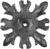 "Forged Steel Floral Base Plate5-1/4"" Sq, 7-1/6"" Diagonally"