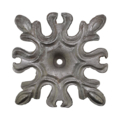 "Forged Steel Floral Base Plate. 5-1/4"" Sq, 7-1/6"" Diagonally"