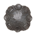 "Forged Steel Decorative Plate,2-15/16"" W"
