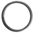 "[BB] Forged Steel Flat Bar Ring. 6"" Diameter"