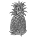 "Stamped Steel Embossed Pineapple. 7-1/2"" H"
