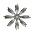 "Stamped Steel 8 Petal Flower. 1-7/8"" H"