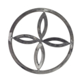 "[AT] Steel Tube Ring, Center Design, 9-3/4"" Diameter."