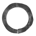 "[M] Hammered Steel Square Bar Ring. 8"" Diameter"