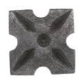 "Steel Decorative Base Plate, 1-3/4"" Sq"