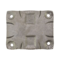 "Steel Mounting Plate w/Holes, 6-1/2"" H x 5-1/2"" W,3/8"" Thick"