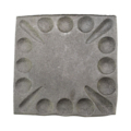"Forged Steel Mounting Base Plate, 4"" Sq"
