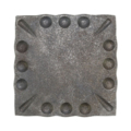 "Forged Steel Mounting Base Plate, 5"" Sq"
