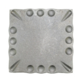 "Forged Steel Mounting Base Plate, 6"" Sq"