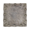 "Forged Steel Mounting Base Plate, 7-1/16"" Sq"