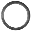 "[CT] Forged Steel Tubing Ring. 4-1/4"" Diameter."