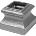 "Cast Iron Shoe, Satin Black, Fits 1"" Square."