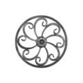 "[A] Forged Steel Rosette.  11-5/8"" Diameter."