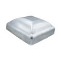 "Galvanized Steel Post Cap. Fits 4"" Square"
