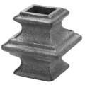 "Cast Iron Collar. Fits 1-1/2""Square, 2-3/4"" H"