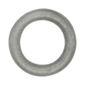"1/2"" Round Bar Cast Iron Ring. 3"" Diameter."