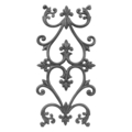 "Cast Iron Panel, Heart Design.24-3/16"" H"