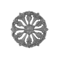 "Cast Iron Rosette, Single Faced, 7-1/2"" Diameter."