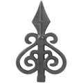 "Cast Iron Spear, 3/8"" x 5/8"" Solid Base"
