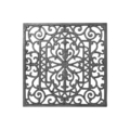 "Cast Iron Panel, Single Faced.17-1/4"" W, 17-1/4"" H"