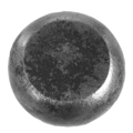 "Solid Steel Compressed Sphere, 3-3/8"" Round."