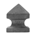 "Cast Iron Post Cap.  Fits Over2"" Square."