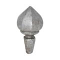 "Hand Forged Steel Finial, 5-1/2""H, 3/4"" Hexagon base"