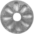 "Forged Steel Rosette 9/16"" Hole,2-9/16""Diameter"