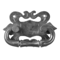 "Forged Steel Cabinet/Drawer Pull. 3-3/8"" W, 4-15/16"" Height."