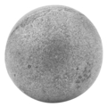 "Hot Stamped Steel Ball. 3-9/16"" Diameter."