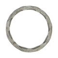 "[HH] Forged Steel Ring. 3-15/16"" Diameter."