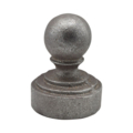 "Cast Iron Post Cap Ball Fits 1-1/4"" Pipe"