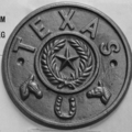 "Cast Iron State of Texas Rosette.  7-11/16"" Diameter."