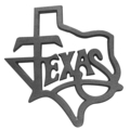 "Cast Iron State of Texas. 11-3/8"" W, 11-7/8"" H"