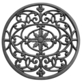 "Cast Iron Scrolled Medallion.11-3/8"" Diameter"