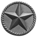"Cast Iron Star Rosette.5-7/16"" Diameter."