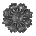 "Forged Flower Medallion. 11"" Diameter"