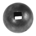 "Forged Steel Ball 2"" Diameter, 9/16"" Square Thru Hole."
