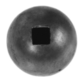 "Forged Steel Ball 1-9/16"" Diameter.  12mm Sq. One Sided Hole"