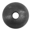 "Forged Steel Ball 2"" Diameter 9/16"" Round Thru Hole."