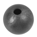 "Forged Steel Ball 1-9/16"" Diameter. 12mm Rnd. One Sided Hole"