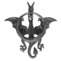 "Forged Steel Dragon Door Knocker 9-1/16"" H"