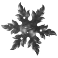 "Forged Steel Ceiling Mount w/Hook. 10-5/8"" Diameter."