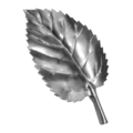 "Stamped Steel Hawthorn Leaf. 3-7/16"" H"