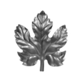 "Stamped Steel Maple Leaf. 4-3/16"" H"