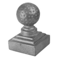 "Cast Iron Golf Post Ball.Fits 1-1/2"" Square."