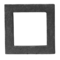 "Cast Iron Square. 2-1/2"" Height."