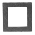 "Cast Iron Square.  5-1/8"" Height.  Fits 4"" Square."