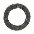 "6mm Scored Square Bar Ring. 1-3/8"" Diameter"