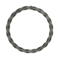 "5mm Twisted Square Bar Ring. 3"" Diameter"